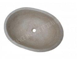 Travertin Classique Vasque Ovale 65x45 cm Adouci 2