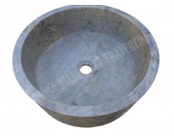 Travertin Gris Silver Vasque Cylindre 2