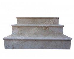 Travertin Beige Marche Escalier 100x30x3 cm Adouci