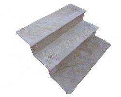 Travertin Beige Marche Escalier 110x30x3 cm Adouci  2