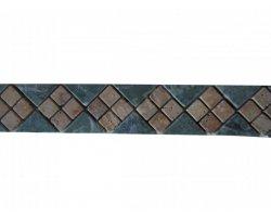 Marbre Vert & Travertin Jaune Frise 28x6 cm 2
