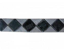 Marbre Frise Blanc - Vert 28x6 cm 2