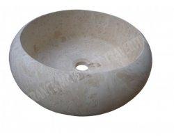 Travertin Classique Beige Vasque Lentille 2