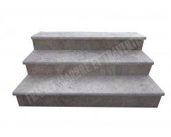 Travertin Silver Marche Escalier 120x30x3 cm Vieilli