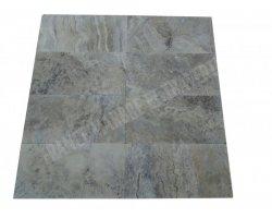 Travertin Silver Gris 30x60x1,2 cm Vieilli