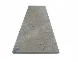Travertin Beige Marche de Escalier 120x40x3 cm Vieilli 2