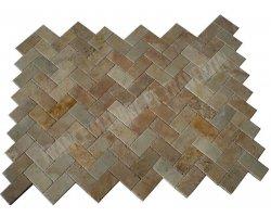 Travertin Classique Pavé 15x30x3 cm Adouci  2