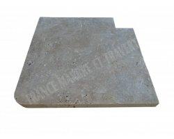 Travertin Noce B Margelle Sortant 40x40 3 cm Droit 2