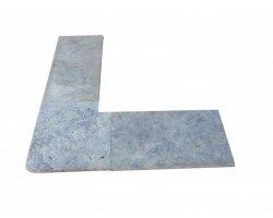Travertin Silver A Margelle Sortant 40x40 3 cm Arrondi 2