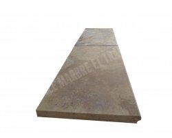 Travertin Jaune Margelle 30,5x61x3 cm Ogee  2