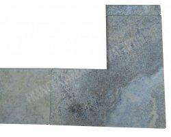 Travertin Silver Margelle Rentrant 3A 61x61x5 Arrondi 2