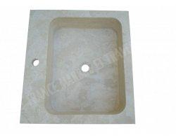 Travertin Classique Évier 55x50x15 cm Adouci 2