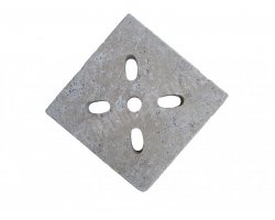 Travertin Classique Grille Siphon Ovale 25x25x3 cm 2