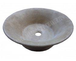 Travertin Noce Marron Vasque Pot Adouci 2