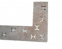 Travertin Classique Grille Angle H 50x50x3 cm 2