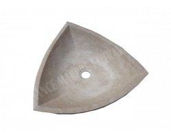 Travertin Classique Vasque Triangle 40x40 cm Adouci 2