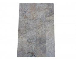 Travertin Silver Pavé 15x30x3 cm Antique 1'er Choix 2