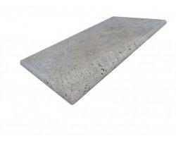 Travertin Classique Marche Escalier Sortant 30,5x61x3 cm