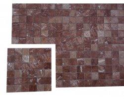 Marbre Rouge Mosaïque 4,8x4,8 cm Poli 2