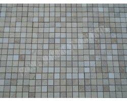 Travertin Classique - Noce Mosaïque 3,1x3,1 cm Antique 2