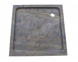 Travertin Silver Bac à Douche 90x90x8 cm Adouci