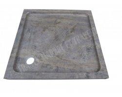 Travertin Silver Bac à Douche 90x90x8 cm Adouci 2