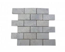 Marbre Blanc Carrara Turque Mosaïque 4,8x10 cm Poli