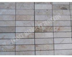 Marbre Beige Marfil Mosaïque 3x10 cm Poli 2