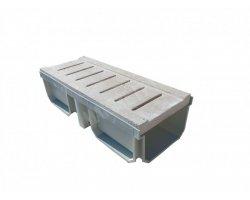 Travertin Classique Grille Canal 19x50x3 + PVC 2