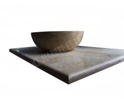Travertin Beige Plan Vasque 100x60x3 cm
