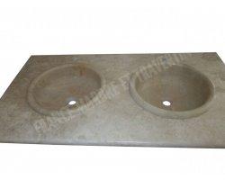 Travertin Beige Plan Vasque Encastrer 120x60x3 cm 2