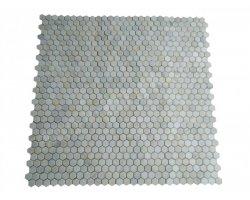 Marbre Blanc Mosaïque Hexagone Antique 2