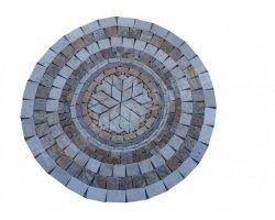 Travertin Mixte Rosace Diamètre 80 cm Antique  2