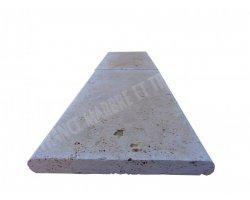 Travertin Beige Couvertine 30,5x61x3 cm Arrondi  2