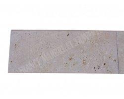 Travertin Beige Couvertine Sortant 25x61x3 cm Arrondi  2