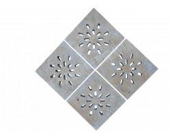 Travertin Classique Siphon Soleil Rainure 18x18x3 cm 2