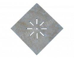 Travertin Classique Siphon Soleil 28x28x3 cm 2