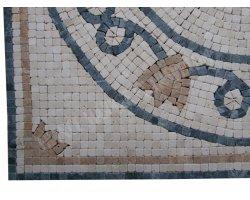 Travertin Mixte Micro Rosace 61x61 cm Antique 2