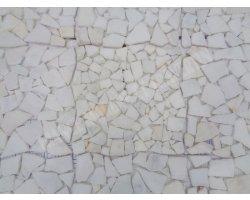Marbre Blanc Mosaïque Opus Galet Antique  2