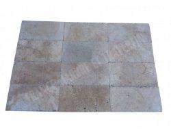 Travertin Classique Beige 20,3x40,6x1,2 cm Brossé