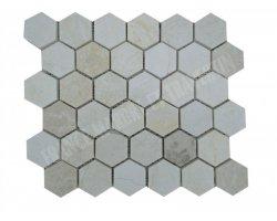 Marbre Beige Mosaïque Hexagone Poli