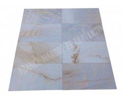 Marbre Blanc Bianco Giallo 30x60x2 cm Rustique