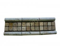 Travertin Frise Mouleur Classique &  Jaune 30x8 cm