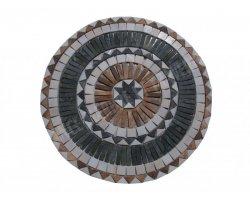 Marbre Mixte Rond Rosace 100 cm Diamètre Adouci