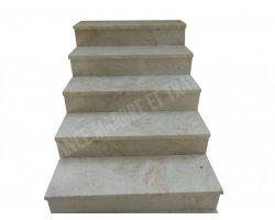 Marbre Crema Perla Marche D'escalier 100x32x3 cm Poli