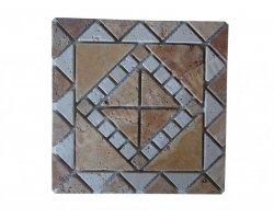 Travertin Jaune - Classique Rosace 30,5x30,5 cm Antique