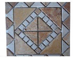 Travertin Jaune - Classique Rosace 30,5x30,5 cm Antique 2