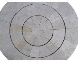Travertin Beige Cercle Manoir Diamètre 90 cm 2