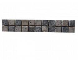 Travertin Frise 2,3x2,3 cm Silver 30x5 cm