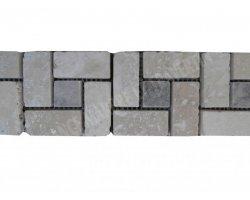 Travertin Frise Classique Silver Target 30x7,5 cm 2